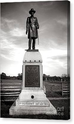 Gettysburg National Park 13th Vermont Infantry Monument Canvas Print by Olivier Le Queinec