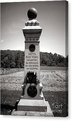 Gettysburg National Park 147th New York Infantry Monument Canvas Print by Olivier Le Queinec