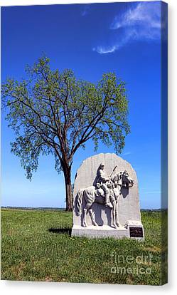 Gettysburg National Park 17th Pennsylvania Cavalry Memorial Canvas Print by Olivier Le Queinec