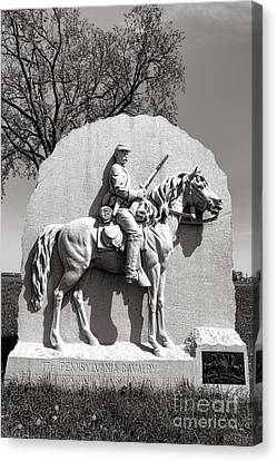 Gettysburg National Park 17th Pennsylvania Cavalry Monument Canvas Print by Olivier Le Queinec