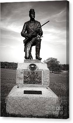Gettysburg National Park 1st Pennsylvania Cavalry Monument Canvas Print by Olivier Le Queinec