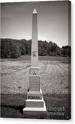 Gettysburg National Park 3rd Indiana Cavalry Monument Canvas Print by Olivier Le Queinec