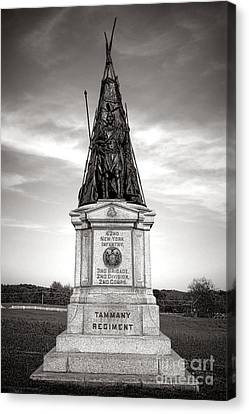 Gettysburg National Park 42nd New York Infantry Monument Canvas Print by Olivier Le Queinec