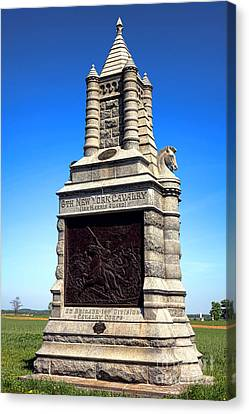 Gettysburg National Park 6th New York Cavalry Memorial Canvas Print by Olivier Le Queinec