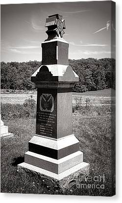 Gettysburg National Park 6th Wisconsin Iron Brigade Monument Canvas Print by Olivier Le Queinec