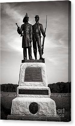 Gettysburg National Park 73rd Ny Infantry 2nd Fire Zouaves Monument Canvas Print by Olivier Le Queinec
