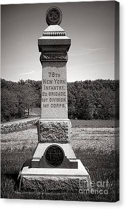 Gettysburg National Park 76th New York Infantry Monument Canvas Print by Olivier Le Queinec