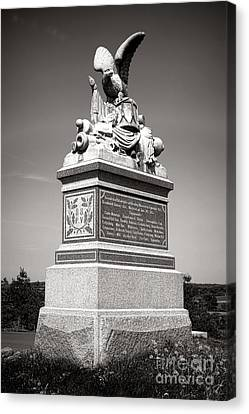Gettysburg National Park 88th Pennsylvania Infantry Monument Canvas Print by Olivier Le Queinec