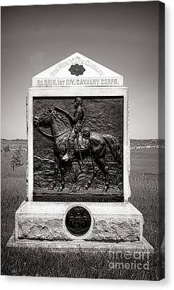 Gettysburg National Park 9th New York Cavalry Monument Canvas Print by Olivier Le Queinec