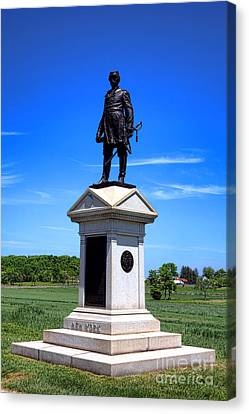 Gettysburg National Park Abner Doubleday Memorial Canvas Print by Olivier Le Queinec