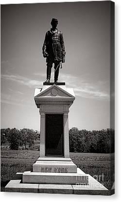 Gettysburg National Park Abner Doubleday Monument Canvas Print by Olivier Le Queinec