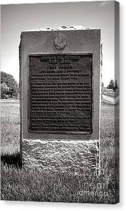 Gettysburg National Park Army Of The Potomac First Division Monument Canvas Print by Olivier Le Queinec