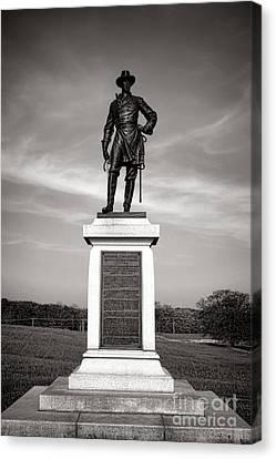 Gettysburg National Park Brigadier General Alexander Webb Monument Canvas Print by Olivier Le Queinec
