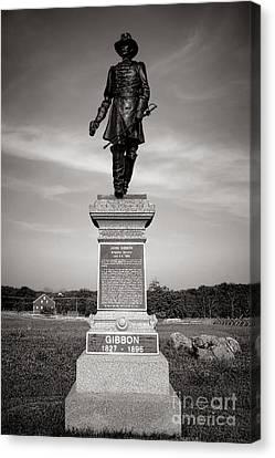 Gettysburg National Park John Gibbon Monument Canvas Print by Olivier Le Queinec