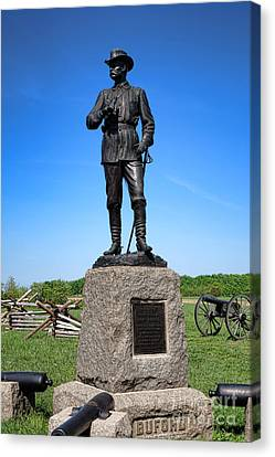 Gettysburg National Park Major General John Buford Memorial Canvas Print by Olivier Le Queinec