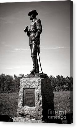 Gettysburg National Park Major General John Buford Monument Canvas Print by Olivier Le Queinec