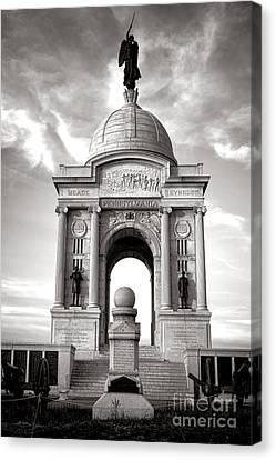 Gettysburg National Park Pennsylvania State Memorial Monument Canvas Print by Olivier Le Queinec