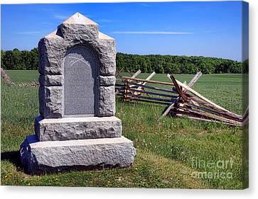 Gettysburg National Park Third West Virginia Cavalry Memorial Canvas Print by Olivier Le Queinec