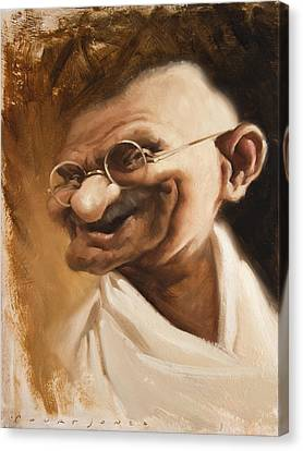 Ghandi Canvas Print by Court Jones