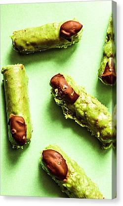 Ghastly Green Halloween Finger Food Canvas Print by Jorgo Photography - Wall Art Gallery