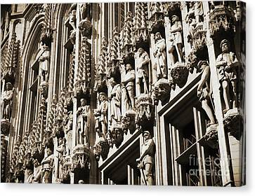 Brussels Gothic In Sepia Canvas Print by Carol Groenen