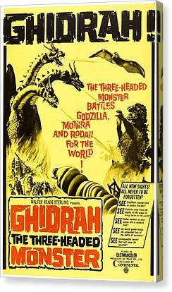 Ghidrah, The Three-headed Monster Canvas Print by Everett