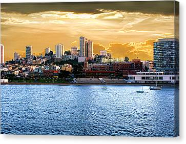 Ghirardelli Square Canvas Print by Michael Cleere