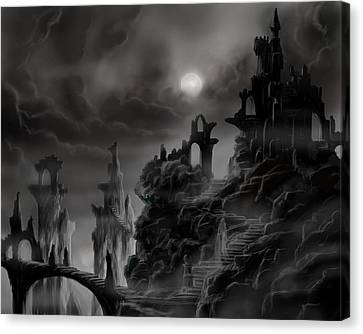 Ghost Castle Canvas Print by James Christopher Hill