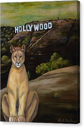 Ghost Cat Canvas Print by Leah Saulnier The Painting Maniac