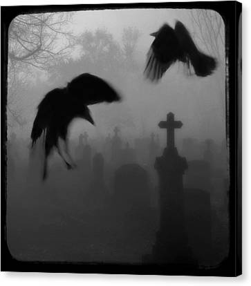 Ghost Crows Canvas Print by Gothicolors Donna Snyder