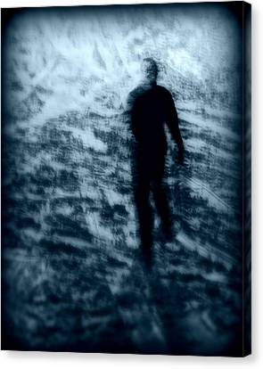 Ghost In The Snow Canvas Print by Perry Webster