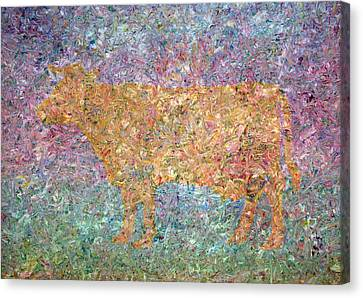 Ghost Of A Cow Canvas Print by James W Johnson