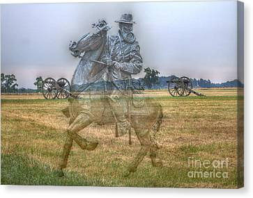Ghost Of Gettysburg Canvas Print by Randy Steele