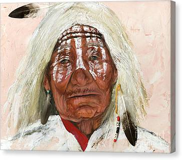 Ghost Shaman Canvas Print by J W Baker