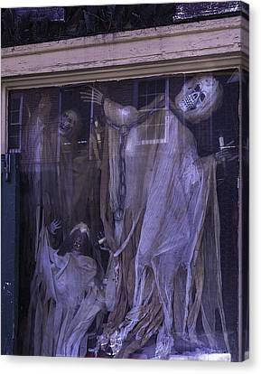 Ghosts In Window Canvas Print by Garry Gay