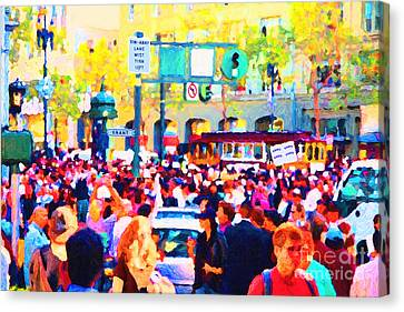 Giants 2010 Champions Parade . Photo Artwork Canvas Print by Wingsdomain Art and Photography