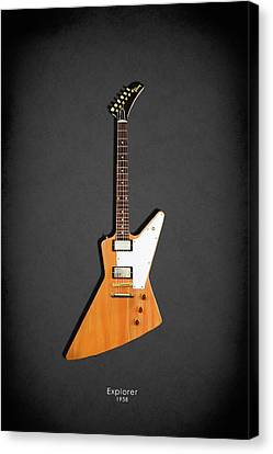 Gibson Explorer 1958 Canvas Print by Mark Rogan