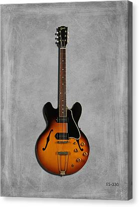 Gibson Semi Hollow Es330 Canvas Print by Mark Rogan