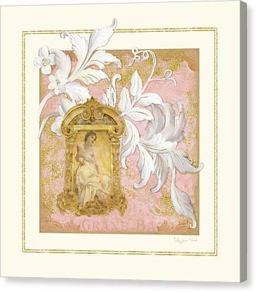 Gilded Age I - Baroque Rococo Palace Ceiling Inspired  Canvas Print by Audrey Jeanne Roberts
