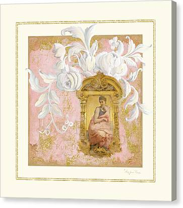 Gilded Age II - Baroque Rococo Palace Ceiling Inspired Canvas Print by Audrey Jeanne Roberts