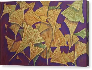 Gingko Flurry Canvas Print by Joann Renner