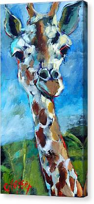 Giraffe Canvas Print by Claire Kayser