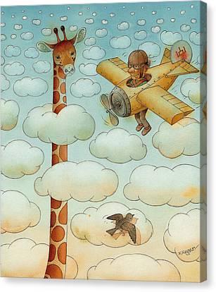 Giraffe Canvas Print by Kestutis Kasparavicius