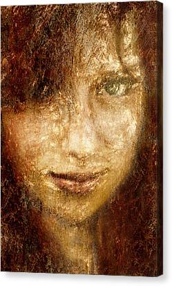 Girl In A Window Canvas Print by Jeff  Gettis