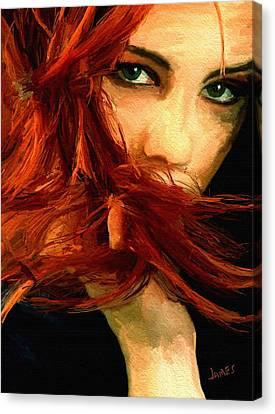 Girl Portrait 08 Canvas Print by James Shepherd