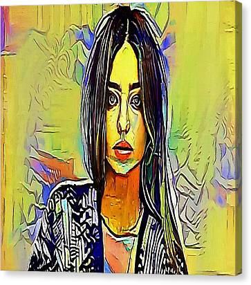 girl - My WWW vikinek-art.com Canvas Print by Viktor Lebeda
