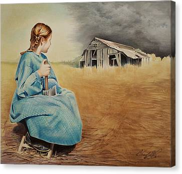 Girl With Axe Canvas Print by Chad Glass