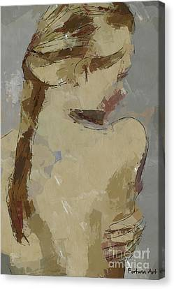Girl With Plait Canvas Print by Dragica Micki Fortuna
