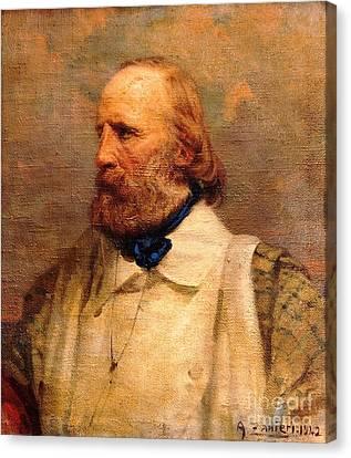 Giuseppe Garibaldi Canvas Print by Pg Reproductions