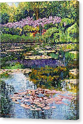 Giverny Reflections Canvas Print by David Lloyd Glover